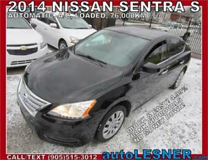 2014 NISSAN SENTRA -AUTO LOADED 76,KM -NO-ACCIDENTS -WARRANTY!