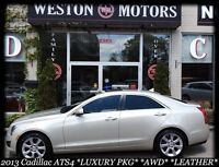 2013 Cadillac ATS AWD*LUXURY PKG*SUNROOF*LEATHER*100% APPROVED