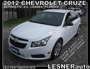 2012 CHEVORLET CRUZE LS -AUTO A/C LOADED BLUE-TOOTH 74,KM-