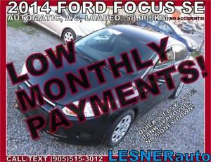 $3000 DOWN, $155 for 60 months! SALE$9980 -2014 FORD FOCUS SE