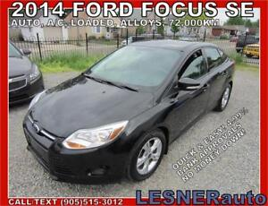 2014 FORD FOCUS SE -AUTO LOADED ALLOYS 72,KM- NO ACCIDENTS!