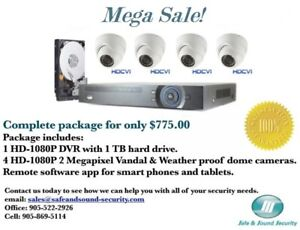 Professional 4 camera  1080P HD security cameras package