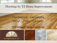 All Floorings (Hardwood-Laminate-Tiles-Carpets) - TZ Renovations
