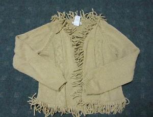 Girls heavy sweater cardigan REAL CUTE  Size Lg (12-14)