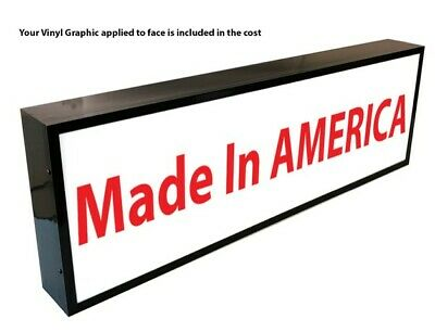 Outdoor Led Light Box Sign 48x48x6 With Full Color Direct Print Graphics
