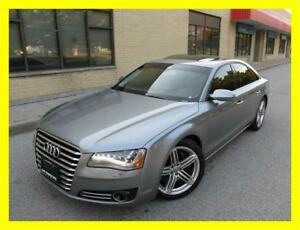 2011 AUDI A8 PREMIUM *NAVIGATION,LEATHER,SUNROOF,DVD,B+O AUDIO!*