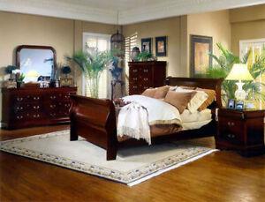 6PC QUEEN SIZE SOLID WOOD BEDROOM SET $798