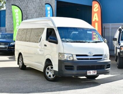 2005 Toyota Hiace KDH222R Commuter High Roof Super LWB White 4 Speed Automatic Bus East Brisbane Brisbane South East Preview