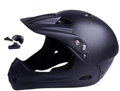 Ventura Downhill Fahrrad Helm schwarz matt M Downhillhelm Bikehelm Fahrradhelm