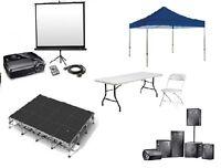 PROJECTOR, TV, SPEAKER, MICHROPHONE, CHAIR RENTALS. 647-285-2958