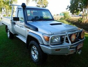 2013 Toyota Landcruiser VDJ79R MY13 GXL Silver 5 Speed Manual Cab Chassis Hidden Valley Darwin City Preview