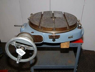 Walters Rotary Table 19-12 Inch Dia. Made In Germany Inv.19683