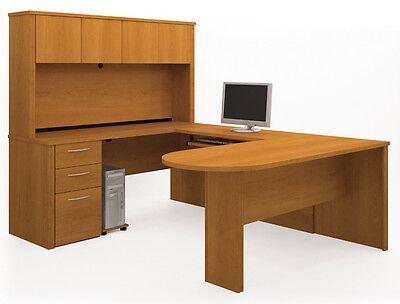 Bestar Embassy Cappuccino Cherry U Shaped Office Desk - 60856-1668