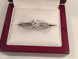Save $4480 Centre 0.57ct, total 0.87ct SI2 F Canadian Diamond