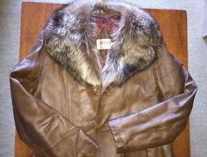 Sidney's Retro Fur/Leather Coat - Men's jacket