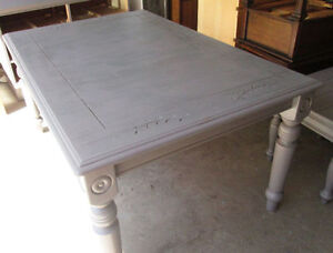 Moving- Beautiful Grey Teak Vintage Dining Table from Malaysia