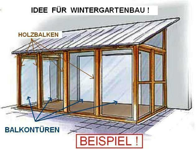 wintergarten bauen mit thermo fenster balkont r in. Black Bedroom Furniture Sets. Home Design Ideas