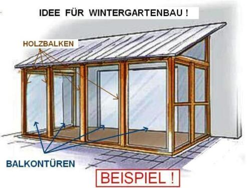wintergarten bauen mit thermo fenster balkont r in hessen schmitten heimwerken. Black Bedroom Furniture Sets. Home Design Ideas