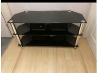 Black glass tv unit , stand