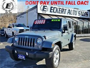 2014 Jeep Wrangler Unlimited Sahara 4x4 WITH LEATHER / NAV
