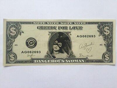 Ariana Grande Dollar Money Bill Note Cash Memrobilia Brand New