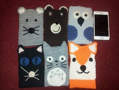 Totoro Studio Ghibli crocheted phone case. fit most phones, ipods. pencil case.