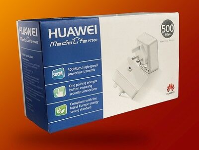 Powerline Adapter Home Plug Ethernet Kit Huawei PT500 Mbps Twin Pack