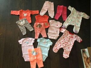 Newborn/ preemie baby girl clothes lot