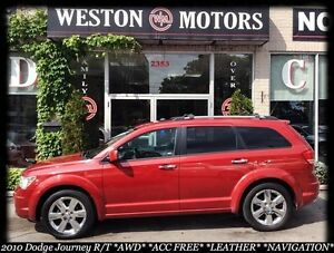 2010 Dodge Journey R/T* AWD* ACC FREE* DVD* NAVI* SUNROOF* LEATH