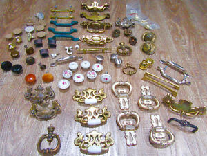 75 vintage dresser side table knobs handles hardware