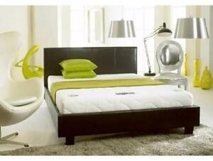 BOXING DAY SALE CONTINUES GET THIS FAUX LEATHER BED WITH MATTRESS ONLY $248  SINGLE $248  DOUBLE $298  QUEEN $348