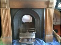 Victorian Fire Place with wooden mantelpiece as option