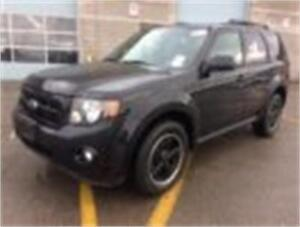 2010 FORD ESCAPE XLT, BLACK, BLACK ALLOYS, ROOF RACK, AUXILIARY!