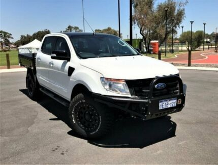 2013 Ford Ranger PX XLT 3.2 (4x4) White 6 Speed Automatic Dual Cab Utility