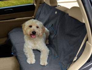 Price REDUCED: Black/Orange Dog / Child Rear Bench Seat Cover
