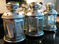 5 Lanterne galvanise - 5 galvanized Lanterns for outside/inside
