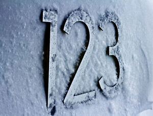 Large Modern Metal House Numbers from House Number King Windsor Region Ontario image 4