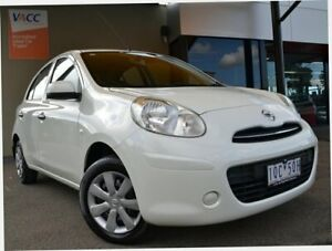 2011 Nissan Micra K13 ST White 4 Speed Automatic Hatchback Fawkner Moreland Area Preview