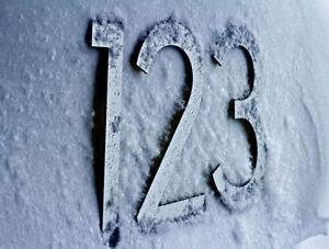 Large Modern Metal House Numbers from House Number King Regina Regina Area image 4