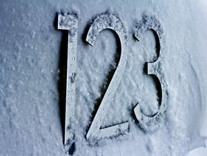 Large Modern Metal House Numbers from House Number King Moose Jaw Regina Area image 4