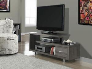 "I 2574 CONSOLE TV 60""L STYLE VIEUX BOIS TAUPE FONCE"