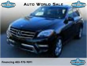 2015 MERCEDES BENZ ML-350 |AWD- WARRANTY| BLACK ON BLACK