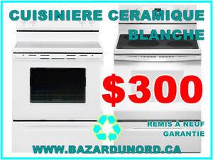 Cuisiniere/Poele usage/remis a neuf+Garantie a partir de $175