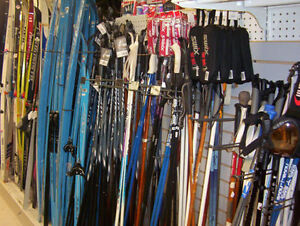 Cross x-country new used skis boots poles wax 3-pin sns nnn