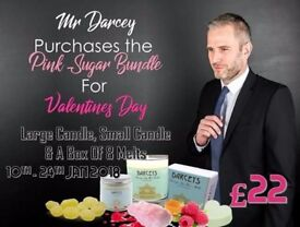 Darceys scented candle range