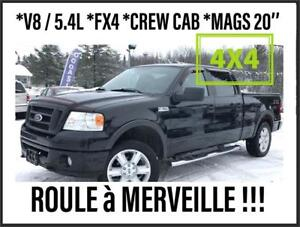 2007 FORD F-150 FX4 *V8/5.4L *CUIR + MAGS 20' + 4X4 + FULL EQUIP