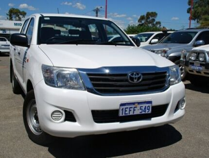2013 Toyota Hilux GGN15R MY12 SR Double Cab White 5 Speed Automatic Utility Bellevue Swan Area Preview