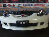 JDM ACURA DC5 RSX FRONT END HID HEAD LIGHTS BUMPER HOOD FENDERS