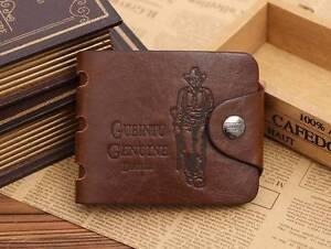 Bailini genuine leather cowboy bifold wallet card holder