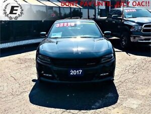 2017 DODGE CHARGER RT WITH 5.7L HEMI, LEATHER, SUNROOF
